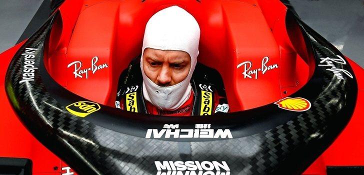 Vettel, sentado en el SF1000