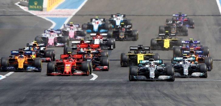 Los monoplazas de F1, en el GP de Francia 2019