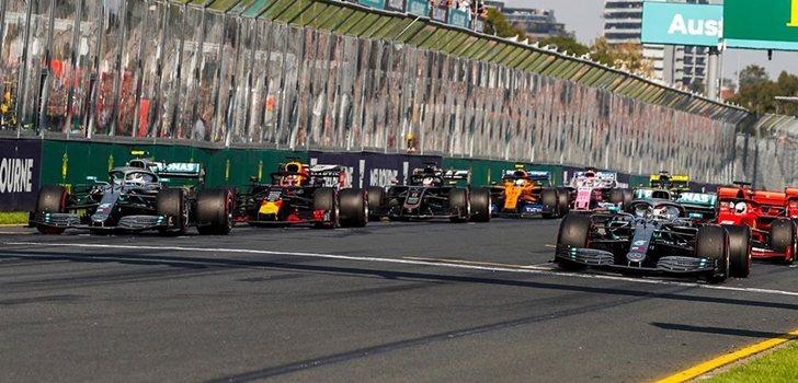 Los monoplazas de F1, en el GP de Australia 2019