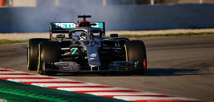 Hamilton, en los test de Barcelona