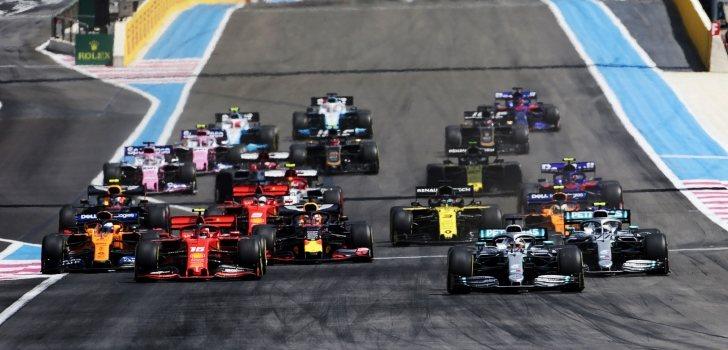 Los monoplazas de F1, durante la temporada 2019