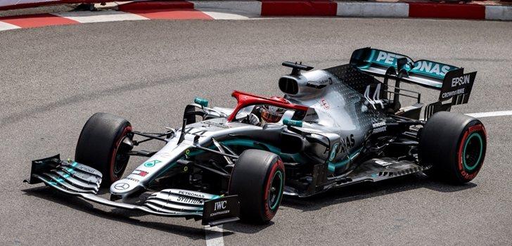 Hamilton, durante el GP de Mónaco 2019