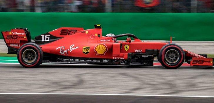 Leclerc, en el GP de Italia 2019