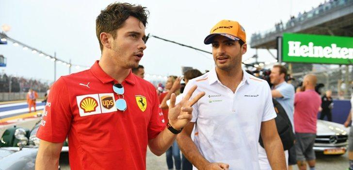 Sainz y Leclerc formarán pareja en 2021