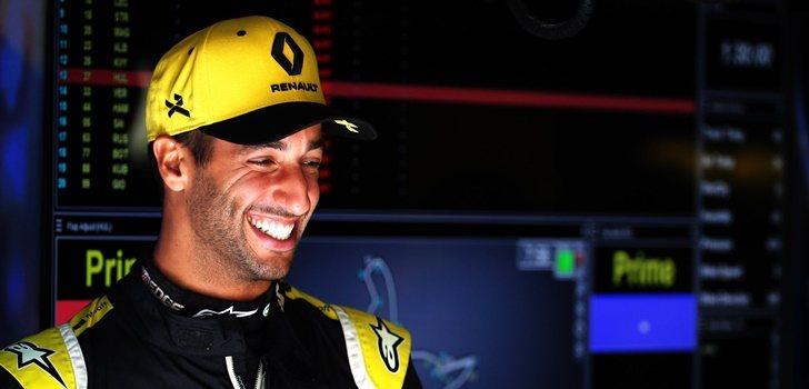 Daniel Ricciardo durante el GP de Bélgica