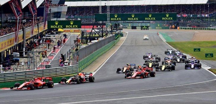 Los coches de F1, en el GP de Gran Bretaña 2019