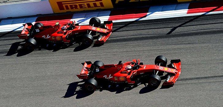 Vettel contra Leclerc en 2019