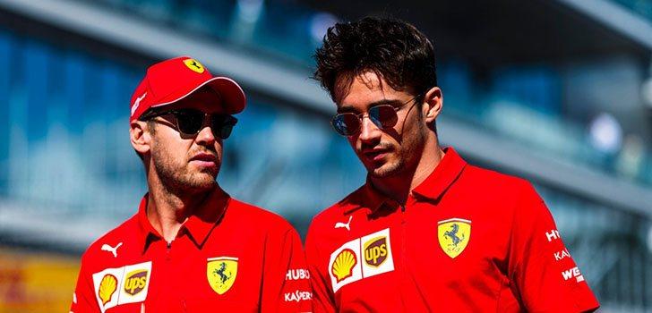 Vettel y Leclerc, nueva batalla en 2020