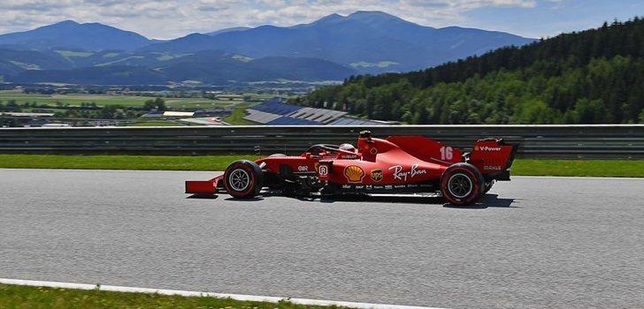 Leclerc, en la Qualy del GP de Austria 2020
