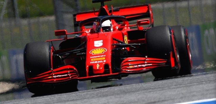 Sebastian Vettel, en el GP de Austria 2020
