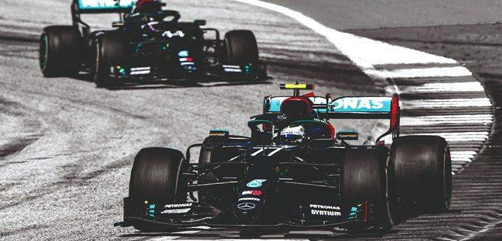 Bottas y Hamilton en el GP de Austria 2020