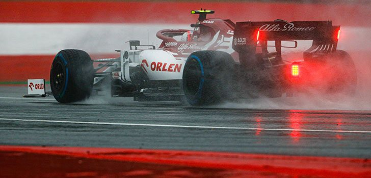 Kimi Räikkönen, frustrado con el resultado en la clasificación del GP de Estiria