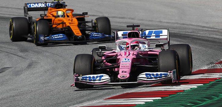 Sergio Pérez, satisfecho con la remontada en el GP de Estiria 2020