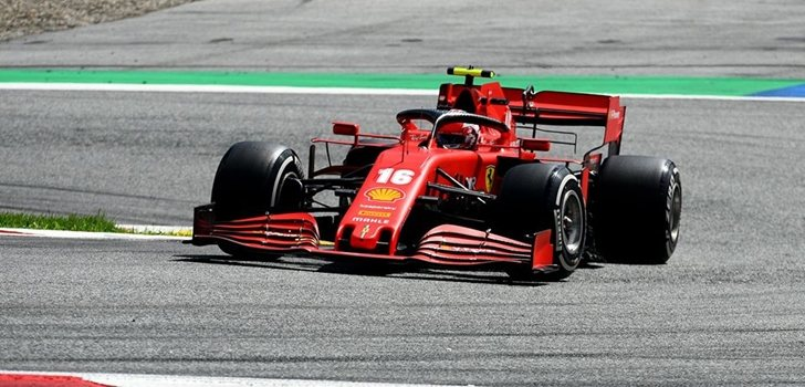 Leclerc, en el GP de Estiria 2020
