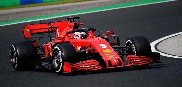 Vettel, en el GP de Hungría 2020