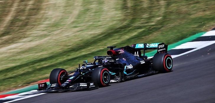 Hamilton, en la Qualy del GP 70 Aniversario