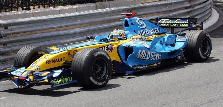 Alonso, durante su primera etapa en Renault