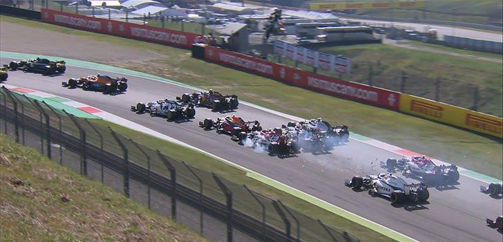 Fuerte accidente en la salida de la carrera de Mugello del Gran Premio de La Toscana F1 2020