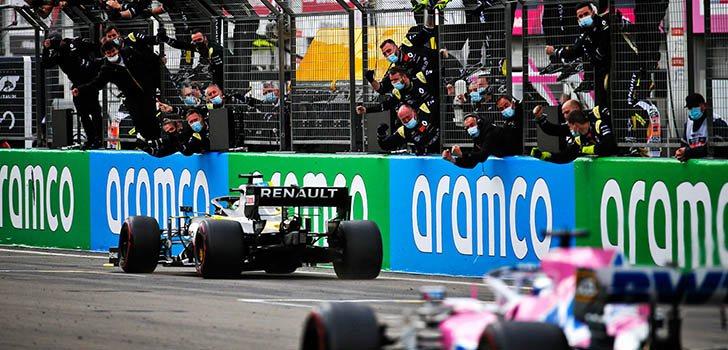Perfecto resultado de Daniel Ricciardo en la última carrera en Eifel