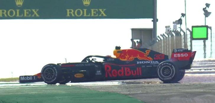 Verstappen realiza un trompo en los Libres 1 del GP de Portugal
