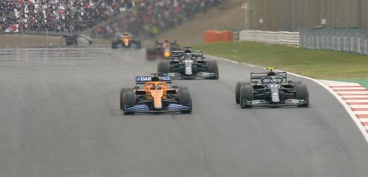 Sainz supera a Bottas en Portugal
