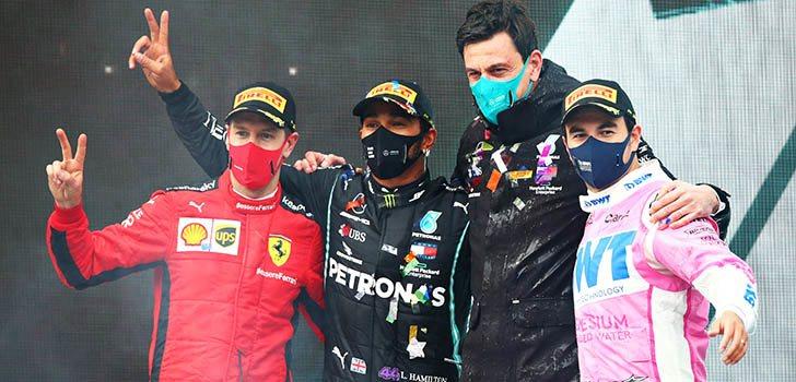 Ross Brawn destaca la actuación de Pérez y Vettel en Turquía