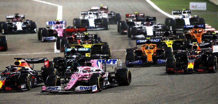 Pérez realiza una gran salida en el GP de Baréin