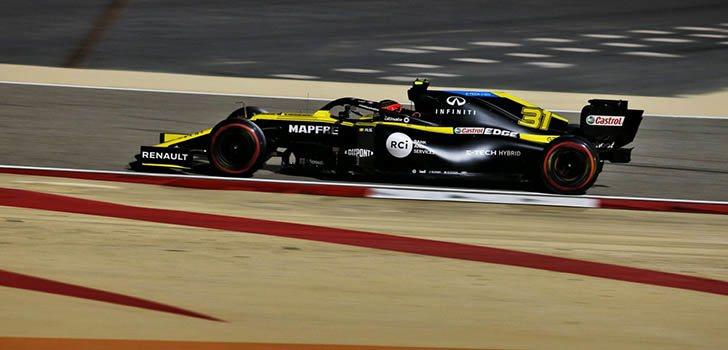 Esteban Ocon, el más rápido de Renault en Sakhir