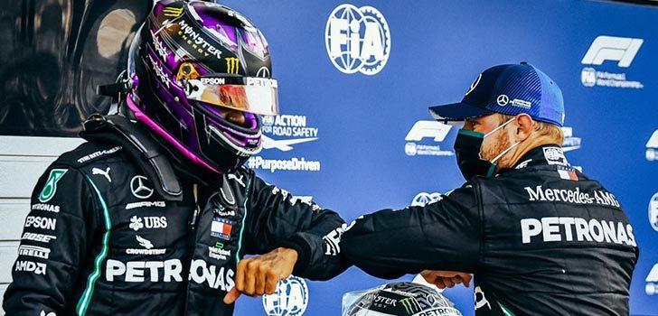 Lewis Hamilton destaca la evolución de Valtteri Bottas
