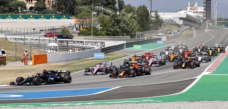Los monoplazas de F1, en el GP de España 2020