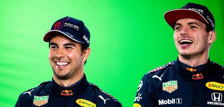 Pérez y Verstappen, en un evento de Red Bull