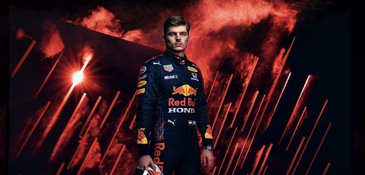 Verstappen, en una imagen promocional de Red Bull