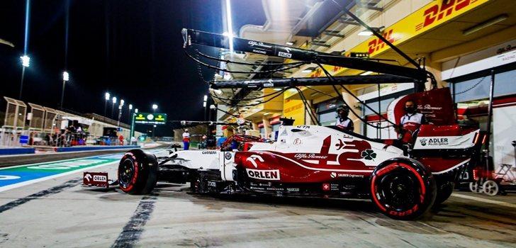 Räikkönen, en los Libres 2 de Baréin