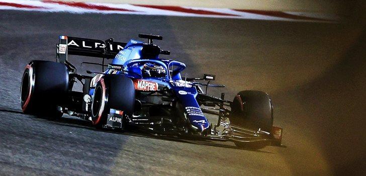 Alonso, en el GP de Baréin 2021