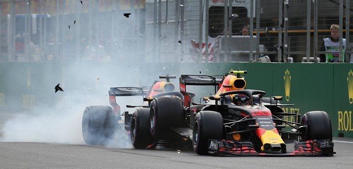 Accidente de Ricciardo y Verstappen el Azerbaiyán 2018