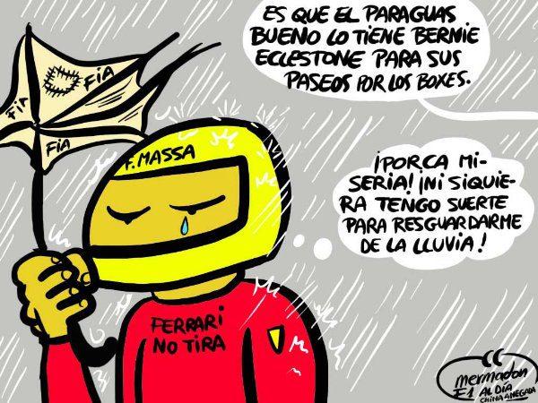 La viñeta (40): 'Massa, derrotado de nuevo por la mala suerte'