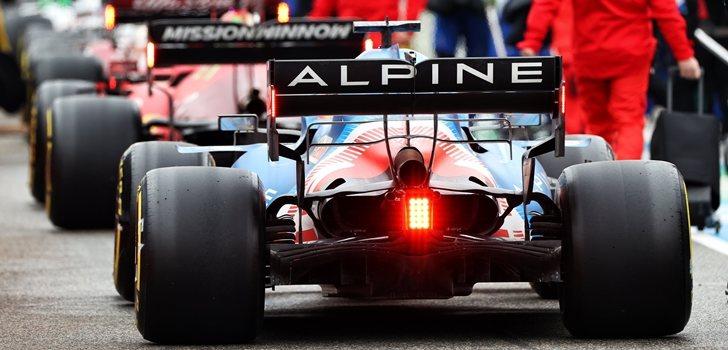 El Alpine, preparado para salir a pista