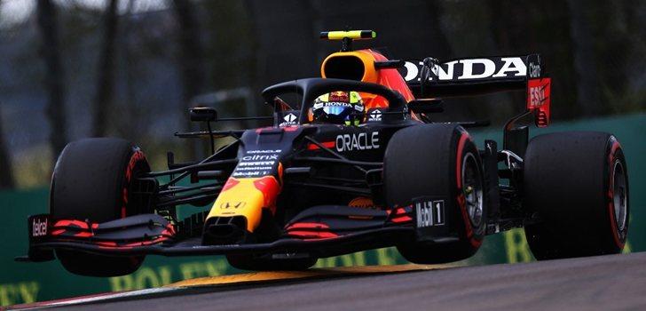 Pérez, en el GP de Emilia Romaña 2021