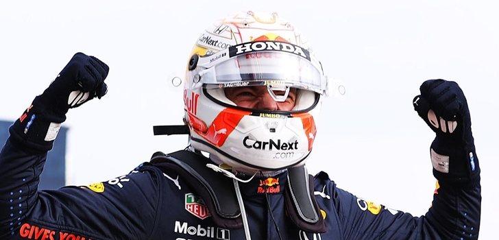 Verstappen celebra su triunfo en Imola
