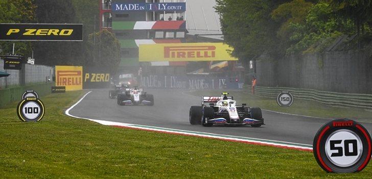 Mick Schumacher, en el GP de Emilia Romaña 2021