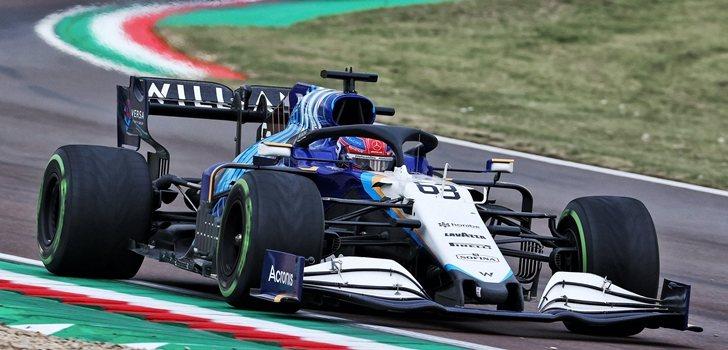 Russell, en el GP de Emilia Romaña
