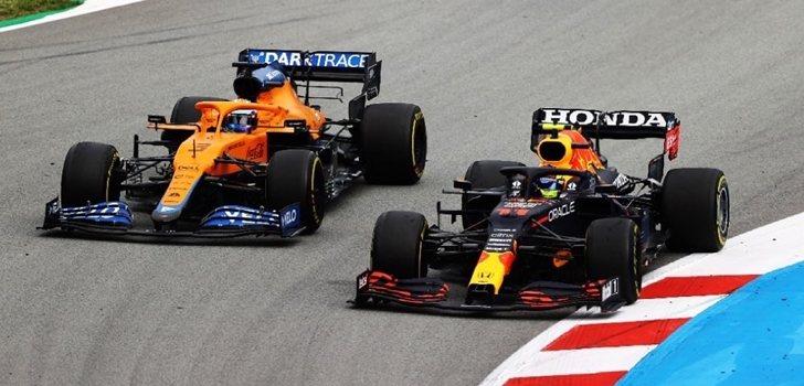 Pérez adelanta a Ricciardo en España