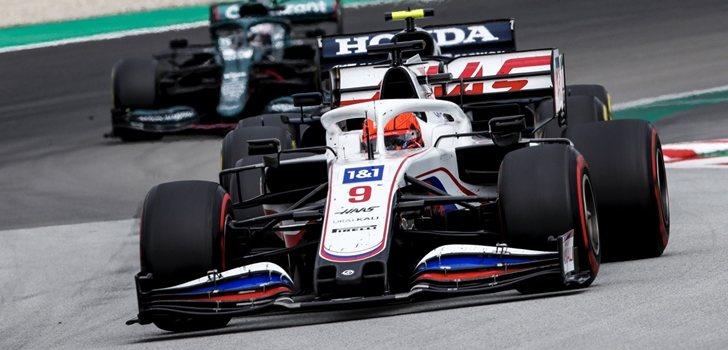 Mazepin, en el GP de España 2021