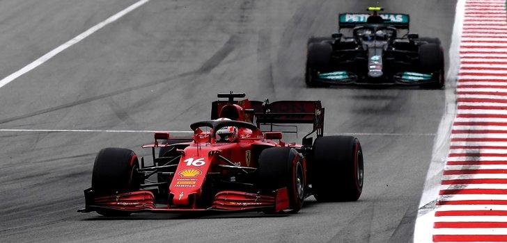 Leclerc, por delante de Bottas en España