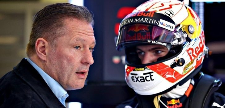 Jos Verstappen, junto a su hijo