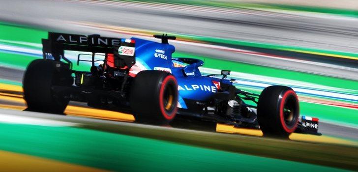 Alonso, en el GP de España 2021