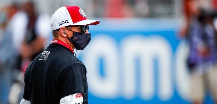 El equipo Alfa Romeo en el GP de Mónaco 2021