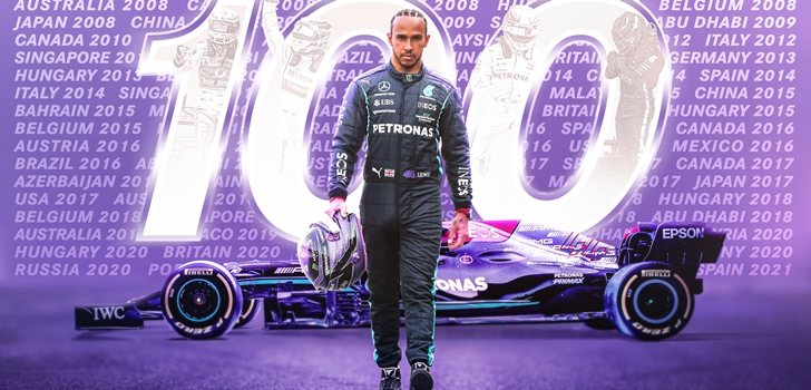 Hamilton y su victoria número 100 en la F1