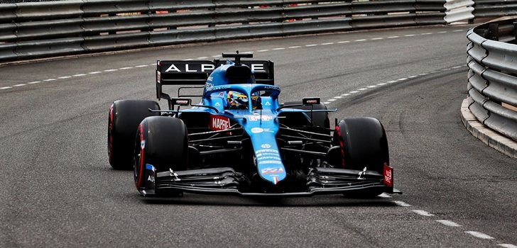 Alonso, en los Libres 3 de Mónaco