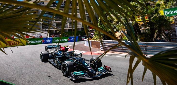 Bottas, en la Qualy de Mónaco